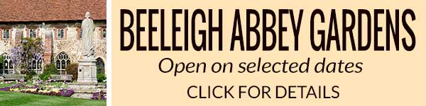 Beeleigh Abbey Gardens will be open on selected dates in 2017 - click for details